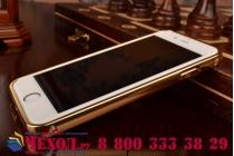 Фирменная металлическая задняя панель-крышка-накладка из тончайшего облегченного авиационного алюминия для iPhone 6S золотая