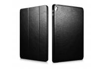"""Фирменный премиальный чехол бизнес класса для iPad Pro 9.7"""" из качественной импортной кожи черный"""