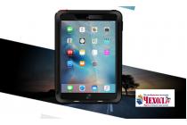 """Неубиваемый водостойкий противоударный водонепроницаемый грязестойкий влагозащитный ударопрочный фирменный чехол-бампер для iPad Pro 9.7"""" черный цельно-металлический со стеклом Gorilla Glass"""