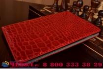 Фирменный чехол для iPad Mini 4 лаковая кожа крокодила красный