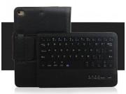 Фирменный чехол со съёмной Bluetooth-клавиатурой для ipad Mini 4 черный  кожаный + гарантия..