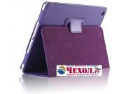 Чехол закрытого типа из мягкой кожи для iPad Mini 4 фиолетовый..