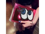 Чехол-обложка для iPad Mini розовый с блестками и большими глазами..