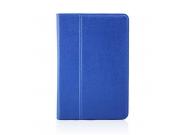 Чехол закрытого типа из мягкой кожи для iPad Mini 4 синий..