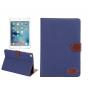 Фирменный чехол-обложка с визитницей и застежкой для iPad mini 4 синий из настоящей джинсы..