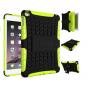 Противоударный усиленный ударопрочный фирменный чехол-бампер-пенал для iPad mini 4 зеленый..
