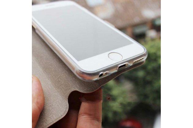 """Фирменный чехол-книжка с безумно красивым расписным рисунком """"Лев"""" на iPhone 5 / 5S/ SE/ 5SE с окошком для звонков"""