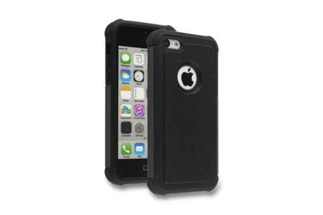 Противоударный усиленный ударопрочный фирменный чехол-бампер-пенал для IPhone 5/5S/SE/5SE черный