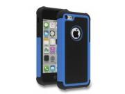 Противоударный усиленный ударопрочный фирменный чехол-бампер-пенал для IPhone 5/5S/SE/5SE синий..
