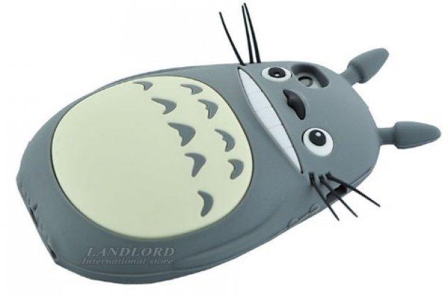 """Фирменная задняя панель-чехол-накладка с объёмным 3D изображением для iPhone 5/5S/5SE/SE  """"тематика веселая мышь"""" серая"""