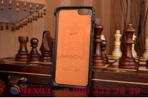 """Элитная задняя панель-крышка премиум-класса из кожи экзотического животного обтянутая натуральной кожей крокодила для iPhone 6 4.7"""" брутальный черный"""