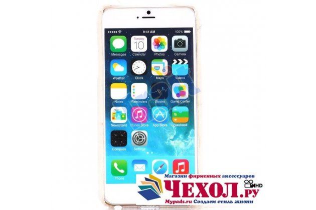"""Чехол-панель с хвостом и ушками для iPhone 6S Plus тематика """"белый пушистый Кот"""""""
