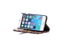 Чехол-защитный кожух для iPhone 6S Plus леопардовый коричневый
