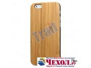 Фирменная оригинальная деревянная бамбуковая задняя панель-крышка-накладка для iPhone 6S Plus..