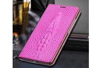 Фирменный роскошный эксклюзивный чехол с объёмным 3D изображением кожи крокодила розовый для iPhone 6S Plus . Только в нашем магазине. Количество ограничено
