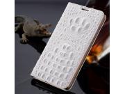 Фирменный роскошный эксклюзивный чехол с объёмным 3D изображением рельефа кожи крокодила белый для iPhone 6S P..