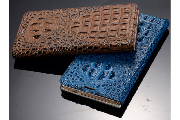 Фирменный роскошный эксклюзивный чехол с объёмным 3D изображением рельефа кожи крокодила синий для iPhone 6S Plus. Только в нашем магазине. Количество ограничено