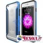 Фирменный чехол-бампер для iPhone 6 Plus синий металлический усиленный..