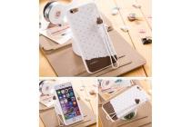 """Фирменная необычная уникальная полимерная мягкая задняя панель-чехол-накладка для iPhone 6S Plus """"тематика Андроид в Белом Шоколаде"""""""