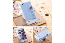 """Фирменная необычная уникальная полимерная мягкая задняя панель-чехол-накладка для iPhone 6S Plus """"тематика Андроид в черничном  Шоколаде"""""""