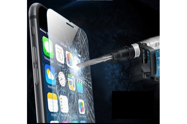 Фирменное защитное закалённое противоударное стекло премиум-класса из качественного японского материала с олеофобным покрытием для iPhone 6S Plus
