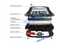 Неубиваемый водостойкий противоударный водонепроницаемый грязестойкий влагозащитный ударопрочный фирменный чехол-бампер для iPhone 6S Plus черный цельно-металлический со стеклом Gorilla Glass