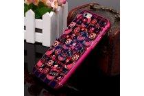 """Фирменная розовая металлическая задняя панель-крышка-накладка из тончайшего облегченного авиационного алюминия для iPhone 6S Plus с необычным рисунком """"тематика сердца"""""""