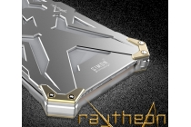 Противоударный металлический чехол-бампер из цельного куска металла с усиленной защитой углов и необычным экстремальным дизайном  для iPhone 6S Plus серебряного цвета