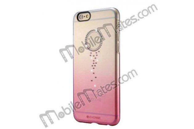 Фирменная из тонкого и лёгкого пластика задняя панель-чехол-накладка декорированная старазми для iPhone 6S Plus прозрачная с эффектом заходящего солнца