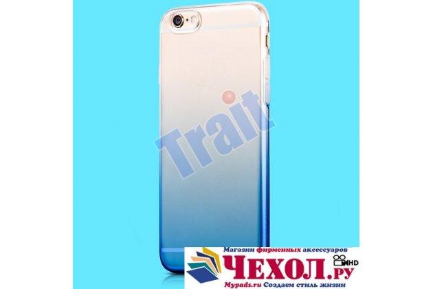 Фирменная ультра-тонкая полимерная задняя панель-чехол-накладка из силикона для iPhone 6S Plus прозрачная с эффектом дождя