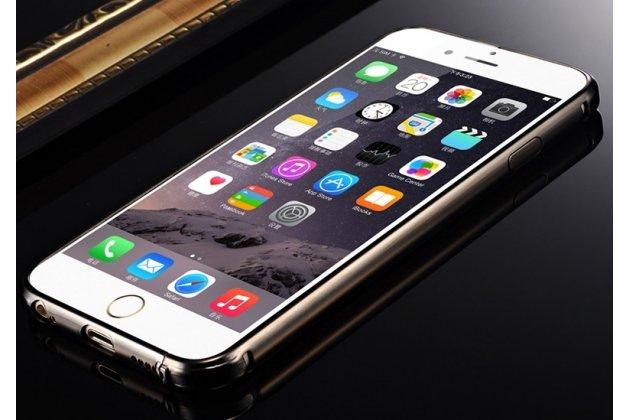 Фирменная металлическая задняя панель-крышка-накладка из тончайшего облегченного авиационного алюминия для iPhone 6S Plus черная