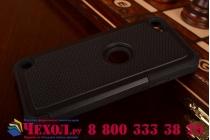 Противоударный усиленный ударопрочный фирменный чехол-бампер-пенал для iPad touch 5 черный