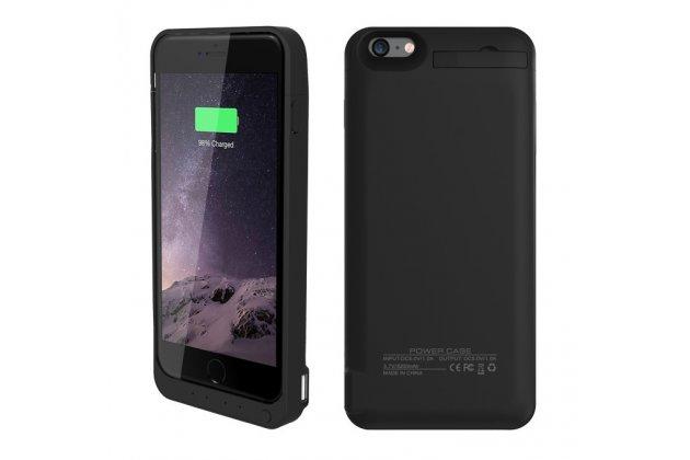 """Чехол-бампер со встроенной усиленной мощной батарей-аккумулятором большой повышенной расширенной ёмкости 8200mAh для iPhone 6 Plus / iPhone 6S Plus 5.5"""" черный + гарантия"""