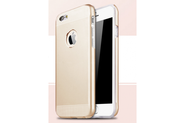 Задняя панель-крышка из тончайшего и прочного пластика для iPhone 6 plus золотая пластиковая