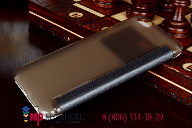 Чехол-книжка для iPhone 6 plus 5.5 дюймов черный с окошком для входящих вызовов