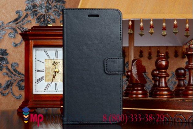 Чехол-книжка с визитницей и мульти-подставкой для iPhone 6+ Plus черный кожаный