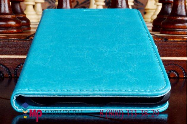Чехол-книжка из качественной импортной кожи для iPhone 6 plus 5.5 дюймов бирюзовый