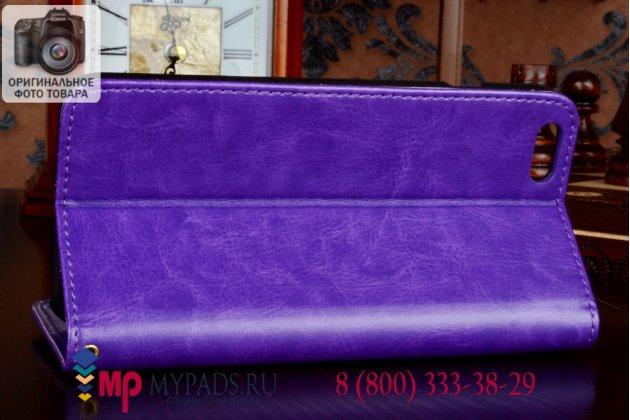 Чехол-книжка из качественной импортной кожи для iPhone 6 plus 5.5 дюймов фиолетовый