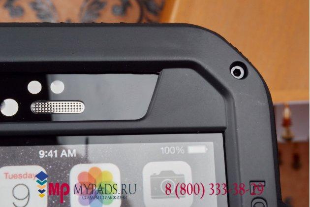 """Неубиваемый водостойкий противоударный водонепроницаемый грязестойкий влагозащитный ударопрочный фирменный чехол-бампер для iPhone 6 Plus / iPhone 6S Plus 5.5"""" цельно-металлический со стеклом Gorilla Glass"""