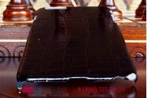 Задняя панель-крышка из тончайшего и прочного пластика для iPhone 6S plus лаковая кожа крокодила черная