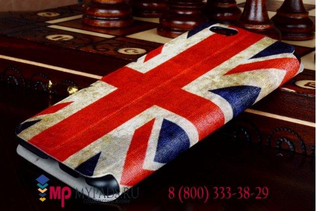 """Необычный эксклюзивный чехол-книжка для iPhone 6 4.7"""" """"тематика Британский флаг"""""""