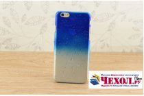 """Фирменная из тонкого и лёгкого пластика задняя панель-чехол-накладка для iPhone 6 4.7"""" прозрачная с эффектом дождя"""