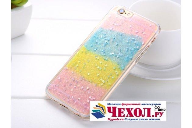 """Фирменная ультра-тонкая полимерная из мягкого качественного силикона задняя панель-чехол-накладка для iPhone 6 4.7"""" """"тематика Разноцветное Суфле"""""""