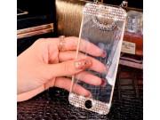 Фирменное защитное закалённое противоударное стекло премиум-класса украшенное стразами кристалликами из качест..