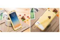 """Фирменная необычная уникальная полимерная мягкая задняя панель-чехол-накладка для iPhone 6 4.7"""" """"тематика Андроид в ванильном  Шоколаде"""""""