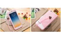 """Фирменная необычная уникальная полимерная мягкая задняя панель-чехол-накладка для iPhone 6 4.7"""" """"тематика Андроид в клубничном шоколаде"""""""
