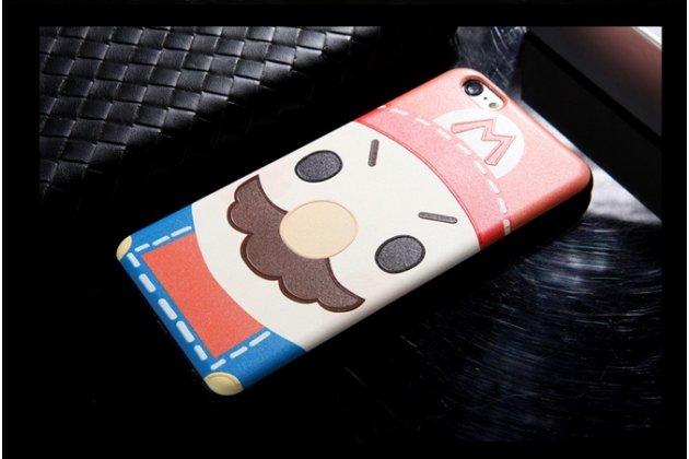 """Фирменная уникальная задняя панель-крышка-накладка из тончайшего силикона для iPhone 6 4.7"""" с объёмным 3D рисунком """"тематика Марио"""""""