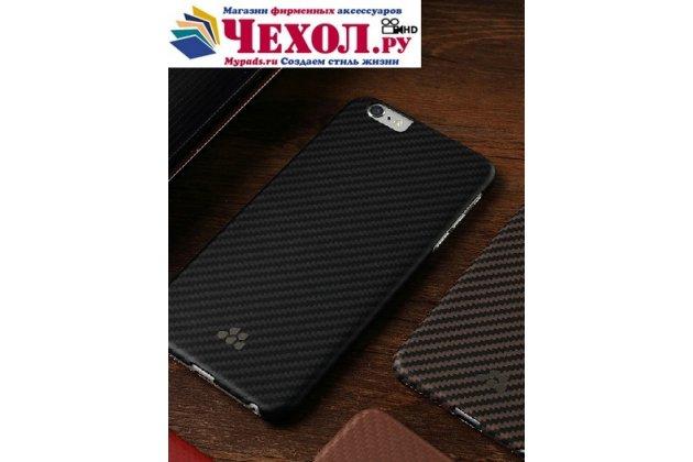 """Фирменная задняя панель-крышка-накладка карбоновая из тончайшего и прочного пластика для iPhone 6 4.7"""" черная"""