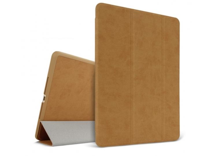 Элитный чехол-обложка для iPad Air коричневый натуральная кожа