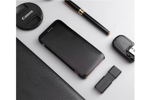 Фирменный премиальный элитный чехол-книжка из качественной импортной кожи с мульти-подставкой для iPhone 6S черный